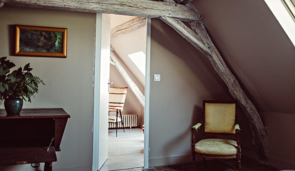 Palier avec accès aux chambres