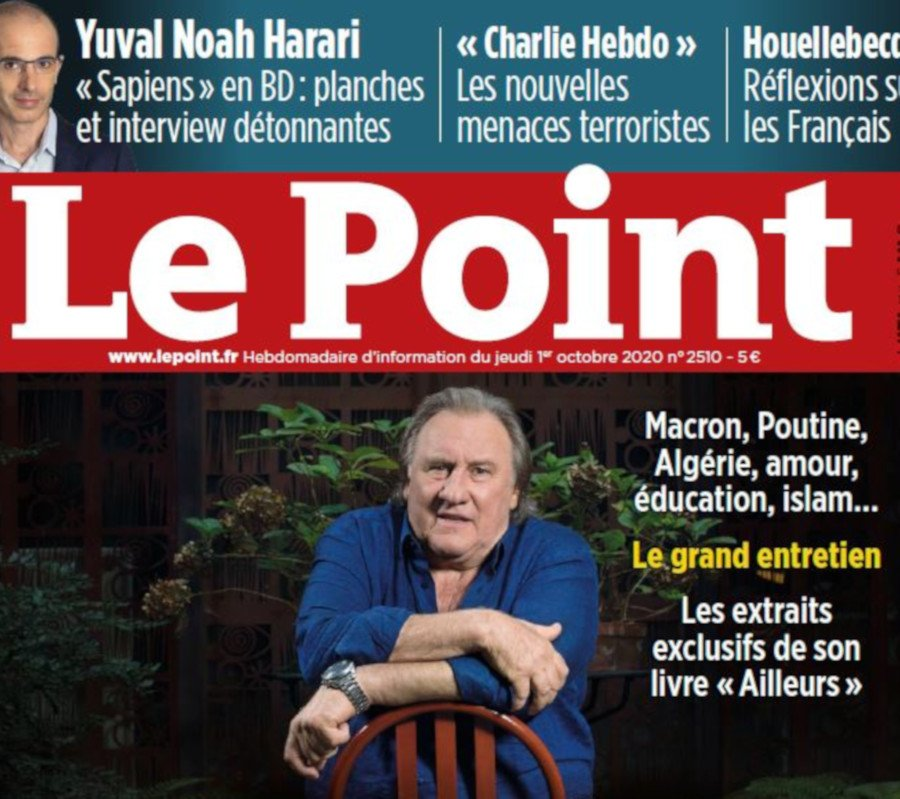 Le Point couverture 1/10/20