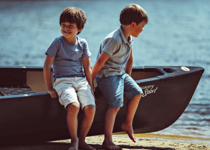 Enfants barque